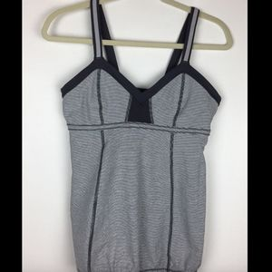 Lululemon Light It Up Tank grey reflectors